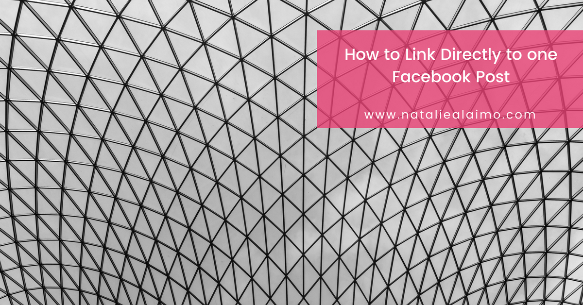How To Link Directly To One Facebook Post